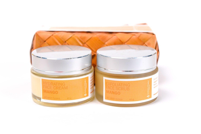 Set Facial Scrub and Cream 40g, Mango