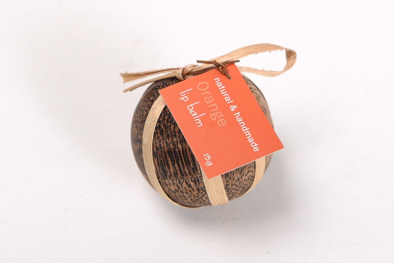 Lip Balm in Wood Ball