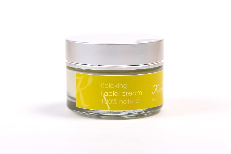 Relaxing Facial Cream, 100 % Natural