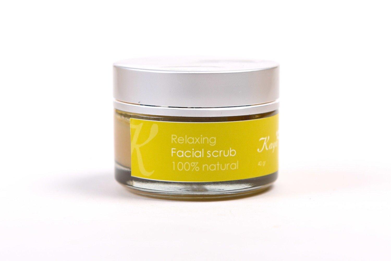 Relaxing Facial Scrub, 100 % Natural