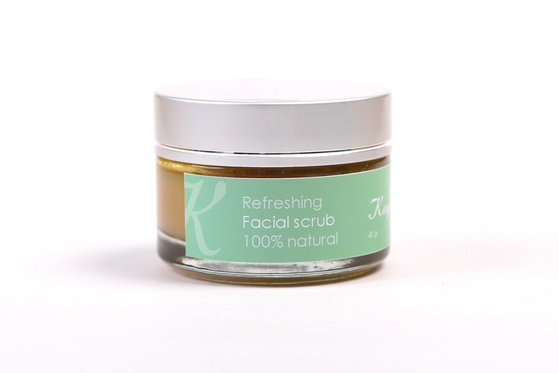Refreshing Facial Scrub, 100 % Natural