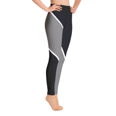 A1P Black/Gray Yoga Leggings