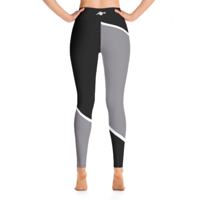 A1P Black & Gray Yoga Leggings