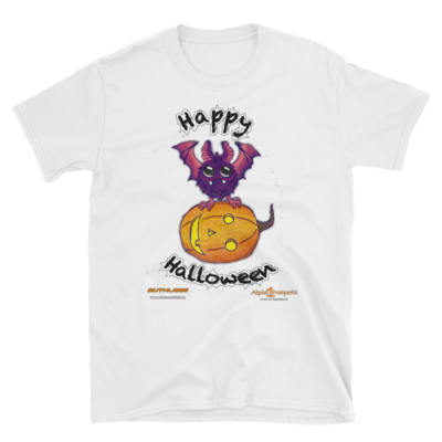 Pumpkin with Bat A1P/Ruthless Short-Sleeve Unisex T-Shirt