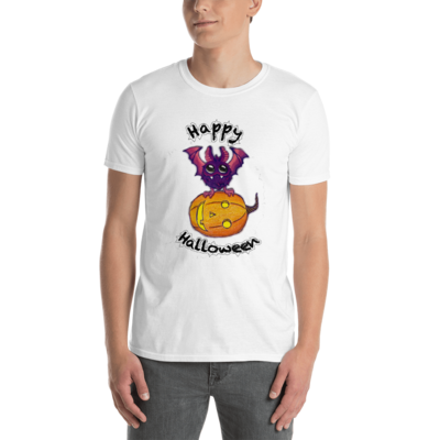 Bat & Pumpkin Dana Collection Short-Sleeve Unisex T-Shirt