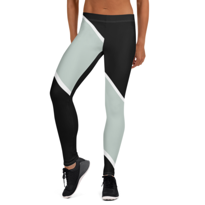 Black-Blue Gray Leggings