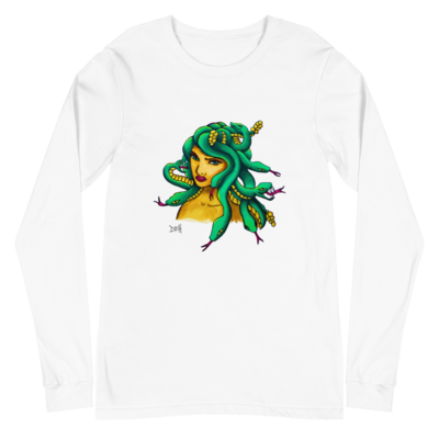 Medusa Unisex Long Sleeve Tee Bella Canvas