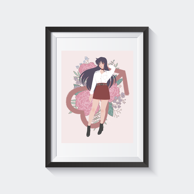 Sailor Mars Holographic Print