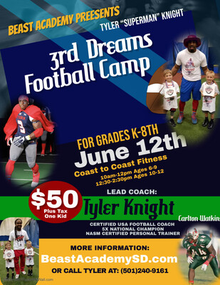 "Tyler ""Superman"" Knight Dreams Football Camp"