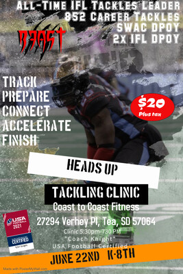 Heads Up Tackling Clinic