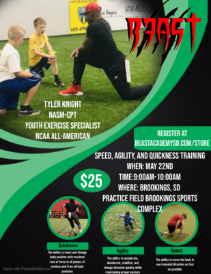 Speed, Agility, Quickness (Brookings, SD)