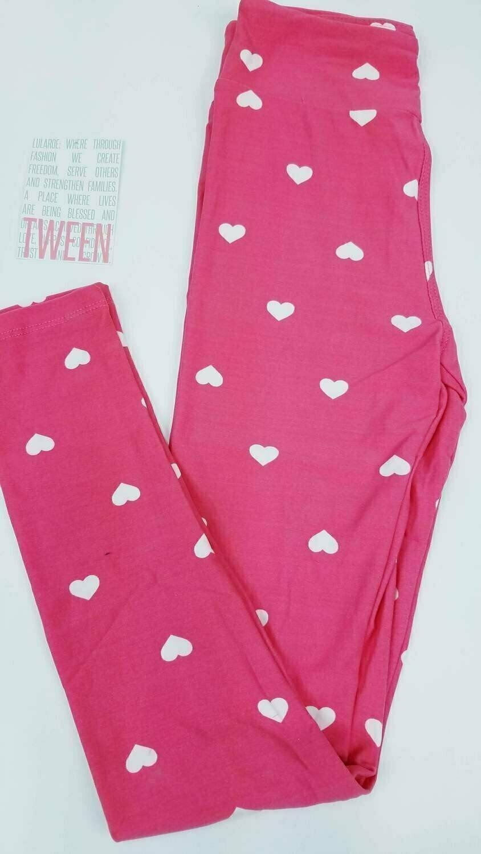 Tween Valentine Adult LuLaroe Leggings Fits Adult Sizes 00-0