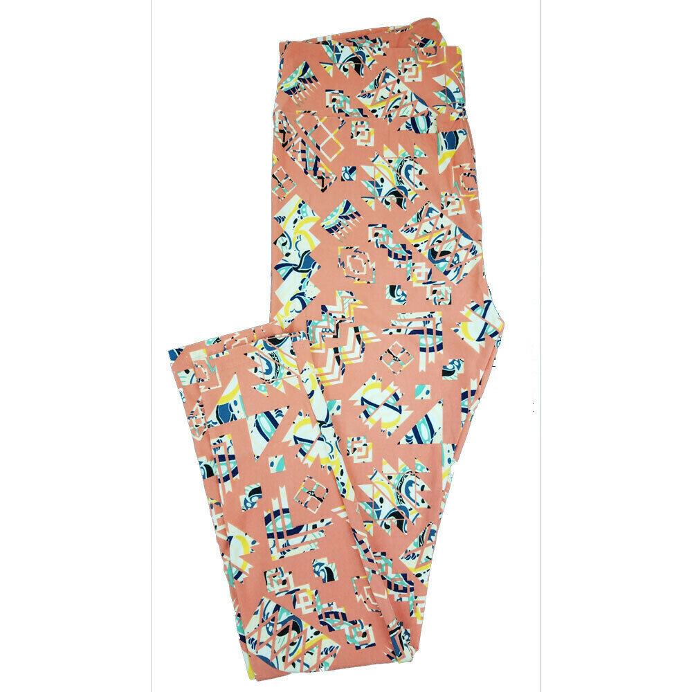 LuLaRoe Tall Curvy TC Paisley Geometric Floral Leggings fits 12-18
