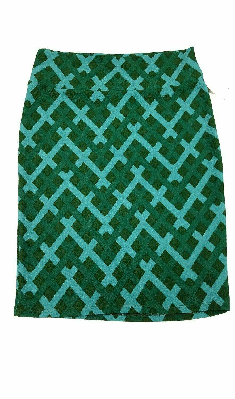 Cassie Large (L) LuLaRoe Womens Knee Length Pencil Skirt fits 14-15