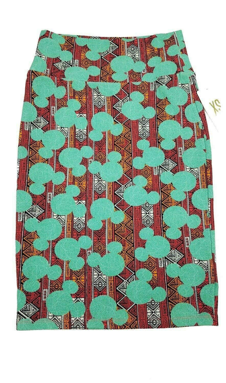 Cassie X-Small (XS) LuLaRoe Womens Knee Length Pencil Skirt fits 2-4