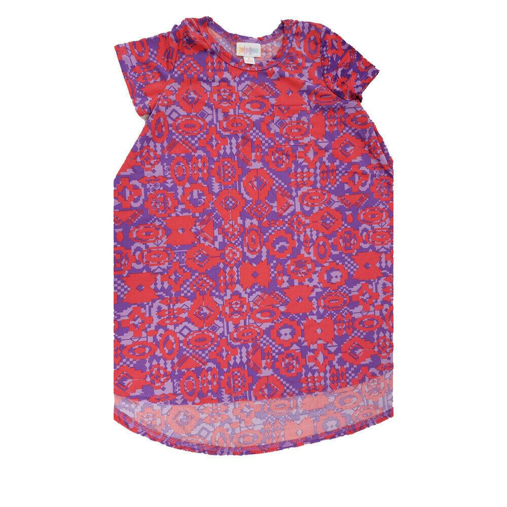 Kids Scarlett LuLaRoe Geometric Purple Lavender Pink Swing Dress Size 6 fits kids 5-6
