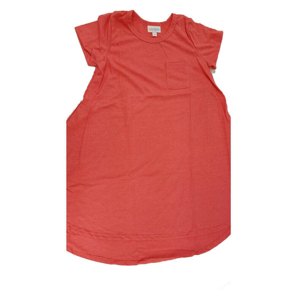 Kids Scarlett LuLaRoe Solid Red Swing Dress Size 8 fits kids 7-8