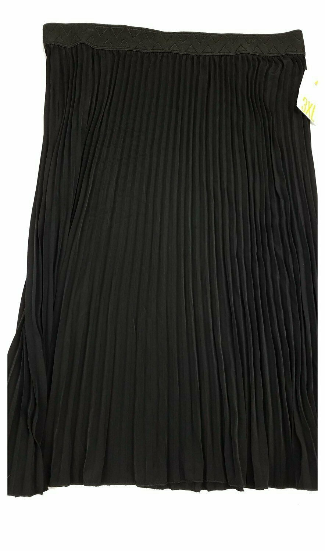 LuLaRoe Jill Black XXX-Large (3XL) Accordion Women's Skirt fits Sizes 26-28