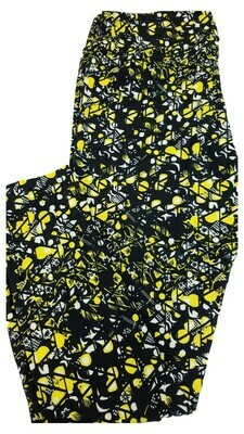 LuLaRoe Tall Curvy TC Black Yellow White Pittsburgh Steelers Pirates Iowa Hawkeyes Geometric Zig Zag Floral Leggings fits 12-18