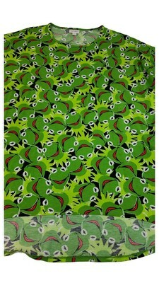 IRMA Disney Muppets Kermit the Frog Medium (M) LuLaRoe Tunic fits 12-14
