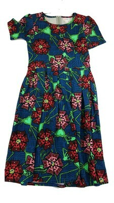 AMELIA Disney The Nightmare Before Christmas Oogie Boogie Blue Pink Red and Green Small (S) LuLaRoe Womens Dress for sizes 6-8