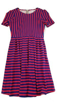 AMELIA Hot Pink and Blue Stripe X-Large (XL) LuLaRoe Womens Dress for sizes 18-20
