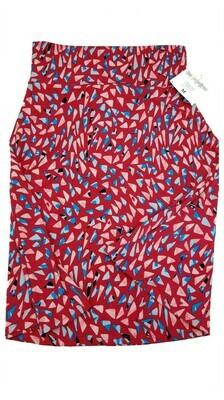 AZURE Medium (M) Red Whtie and Blue LuLaRoe Skirt fits 6-8