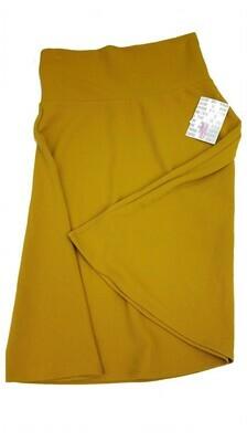 AZURE Medium (M) Mustard Yellow LuLaRoe Skirt fits 6-8