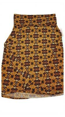 AZURE Small (S) Green Black Cream LuLaRoe Skirt fits 2-4