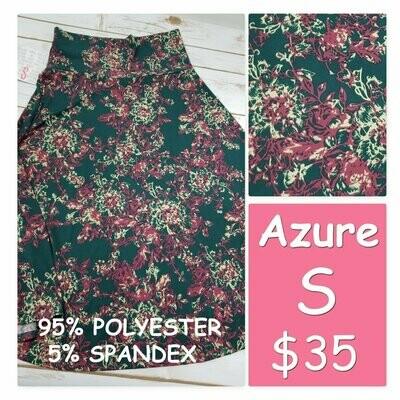 AZURE Small (S) LuLaRoe Womens Skirt