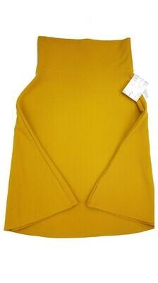 AZURE Small (S) Mustard Yellow LuLaRoe Skirt fits 2-4