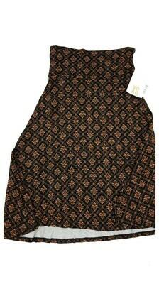 AZURE X-Small (XS) Black and Gold LuLaRoe Skirt Sizes 00-0