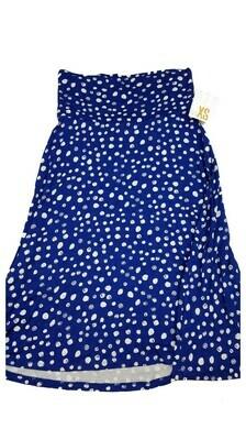 AZURE X-Small (XS) Blue and White Polka Dot LuLaRoe Skirt Sizes 00-0