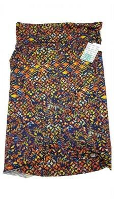 AZURE XX-Large (2XL) Blue Multicolor LuLaRoe Skirt fits 18-20