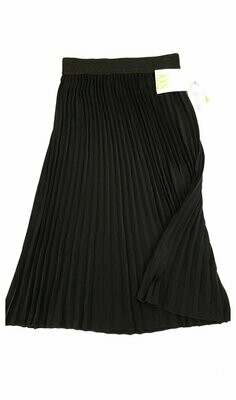 LuLaRoe Jill Black XX-Small (XXS) Accordion Women's Skirt fits Sizes 00-0