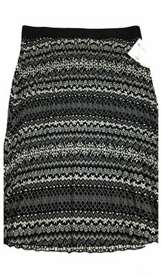 LuLaRoe Jill Black Cream XX-Large (2XL) Accordion Women's Skirt fits Sizes 22-24