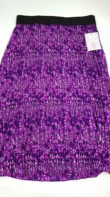 LuLaRoe Jill Black Fuchsia and Pink Medium (M) Accordion Women's Skirt fits Sizes 10-12