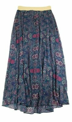 LuLaRoe Lucy Small (S) Floor Length Women's Skirt fits Sizes 4-6