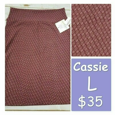 Cassie Large (L) LuLaRoe Womens Knee Length Pencil Skirt fits 14-16