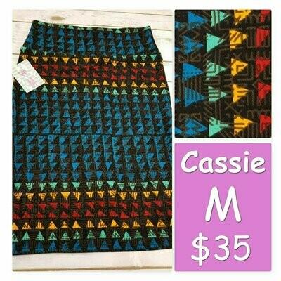 Cassie Medium (M) LuLaRoe Womens Knee Length Pencil Skirt fits 10-12