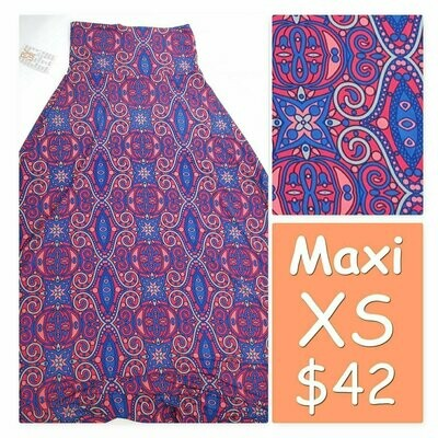 MAXI X-Small (XS) LuLaRoe Womens A-Line Skirt fits 2-4