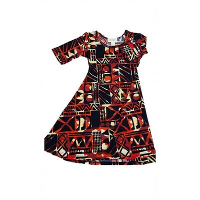 Kids Adeline LuLaRoe Swing Dress Size 2 fits kids 2T-4