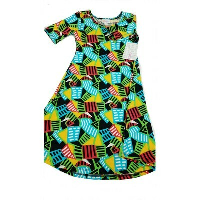 Kids Adeline LuLaRoe Swing Dress Size 8 fits kids 7-8