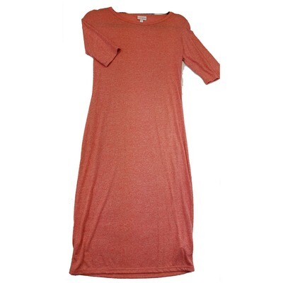 JULIA Small S Solid Red Form Fitting Dress fits sizes 4-6