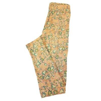 LuLaRoe Tween Floral Leggings Fits Adult Sizes 00-0