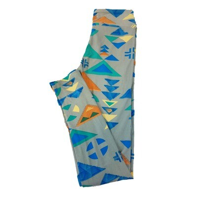 LuLaRoe Tween Geometric Leggings Fits Adult Sizes 00-0