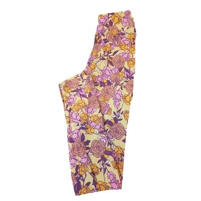 LuLaRoe Tween Roses Leggings Fits Adult Sizes 00-0