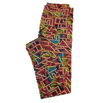 LuLaRoe Tall Curvy TC Trippy Geometric Leggings fits sizes 12-18