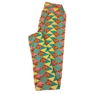LuLaRoe One Size OS Triangle Geometric Stripe Leggings fit Sizes 2-10