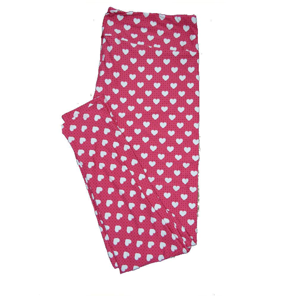 LuLaRoe Tall Curvy ( TC ) Valentines Green Black White Polka Dot Hearts Leggings fits Adult sizes 12-18